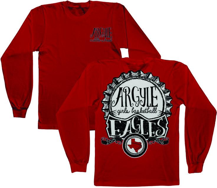 Argyle Middle School Girls Basketball Long Sleeve T-Shirt