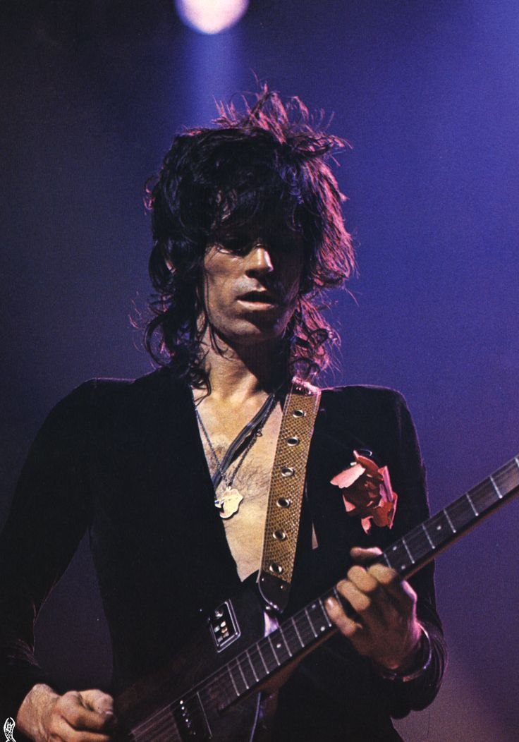 Keith Richards in Anvers, 1973, by Claude Gassian.