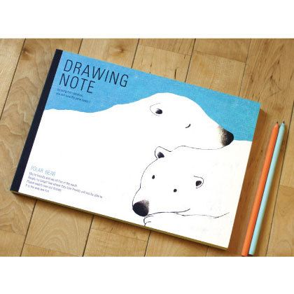 Redpoint Eco friendly Polar bear drawing notebook (http://www.fallindesign.com/redpoint-eco-friendly-polar-bear-drawing-notebook/)