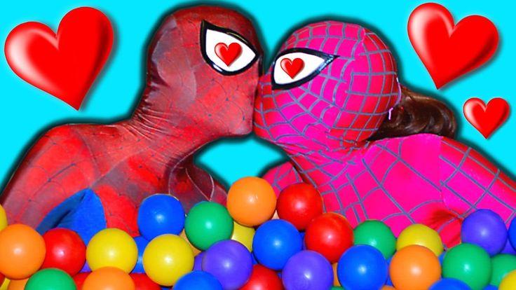 Spiderman & SPIDERGIRL Kids Ballpit & Frozen Elsa Birthday Party Fun Sup...