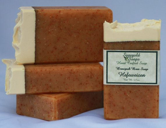 Hefeweizen Handmade Artisan Beer Soap by sagegold on Etsy