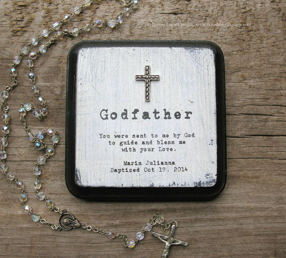 Personalized Godparent Gift Godfather Gift by bonnielecat ...
