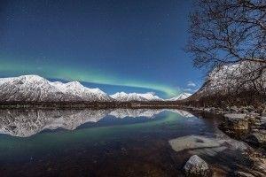 Auroras boreales desde Vesterålen, Noruega