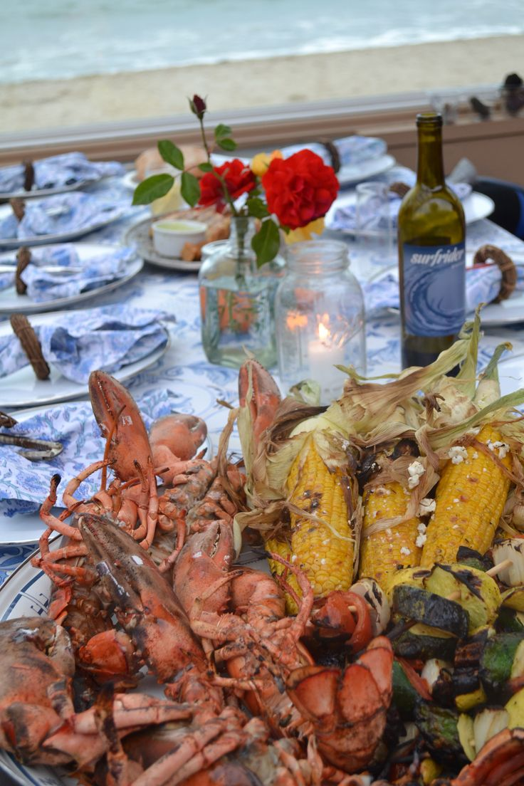 Plan the ultimate summer dinner with a beach lobster feast!