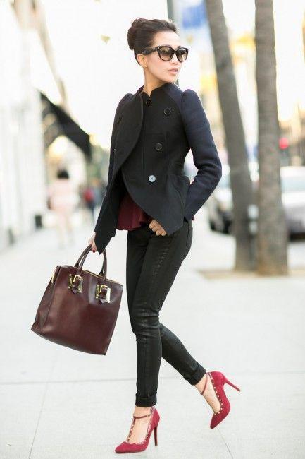 #Kardashian inspired look.  SkinnyJeans, Jacket, Heels, Sunglasses and Handbag  Shop #DMLooks at DivaMall.tv