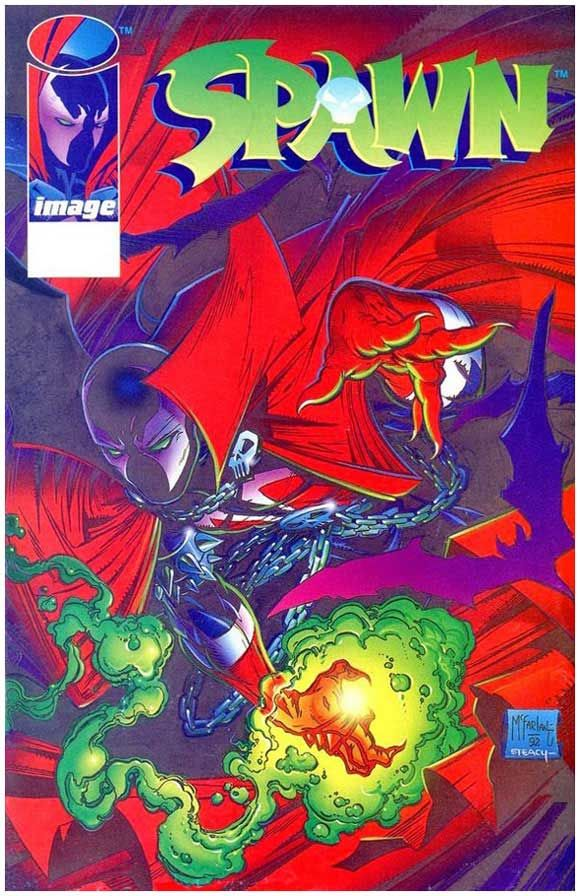 Spawn #1 Error Variant: No black ink on cover. Click the pic and find out more...
