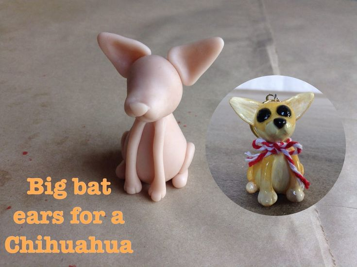 Add big bat like ears to the Mini Pups Base One to make a Chihuahua. http://jebarsby.weebly.com/blog/re-fur-pups