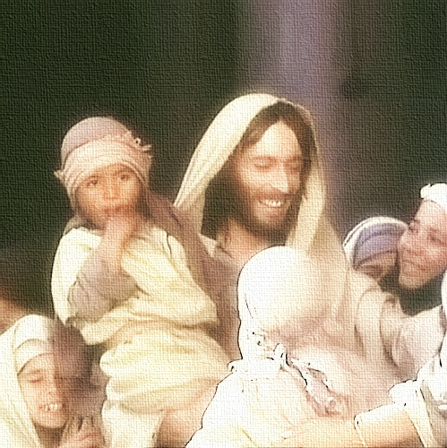 Jesus : Suffer the little children to come unto me; and forbid them not: for such is the kingdom of heaven