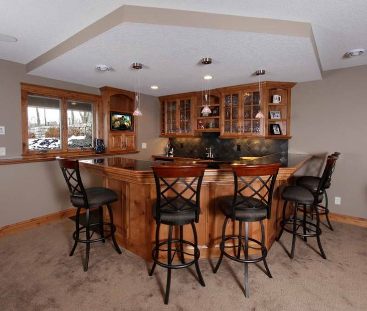 Home Bar Ideas: Modern Kitchen Bar With Elegant Design : Simple Design Home  Bar Ideas