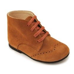 Tan Suede Boys Lace-up Classic Children's Boots