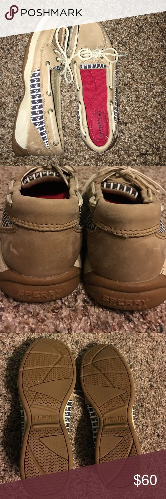 Sperry Top Sider Laguna Boat Shoe New without box, only worn around the house. Super cute anchor pattern on sides! Sperry Top-Sider Shoes Flats & Loafers