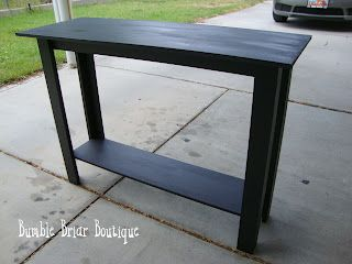 How to build a sofa table...I have a large shelf and small shelf already finished, just need to figure out the leg situation.