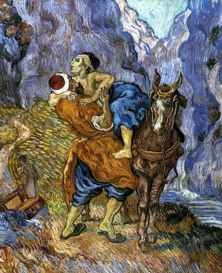 Ο καλός  Σαμαρείτης - 1890 (από έργο του Ντελακρουά)