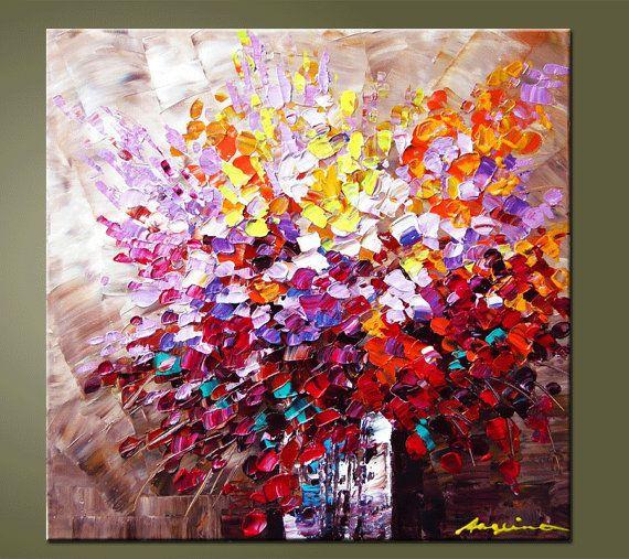 Original Contemporary Palette Knife Fine Art Painting by art53, $149.00
