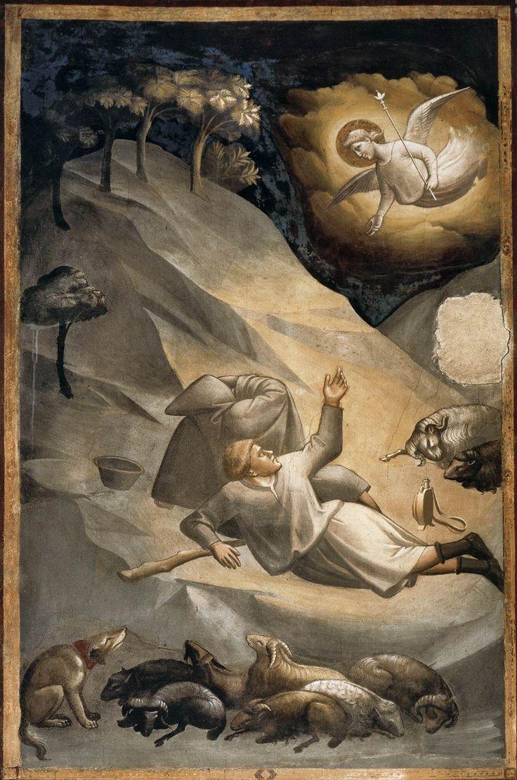 Taddeo Gaddi, Annunciation to the Shepherds (1330)