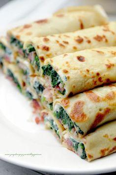 Kulinarne                                                                               podróże: Wytrawne naleśniki. Szpinak, feta i szynka parmeńs...