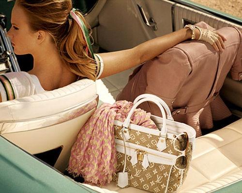 Louis Vuitton Cruise 2011 Ad Campaign(via). Doesn't help that my dream car is a light blue antique :b