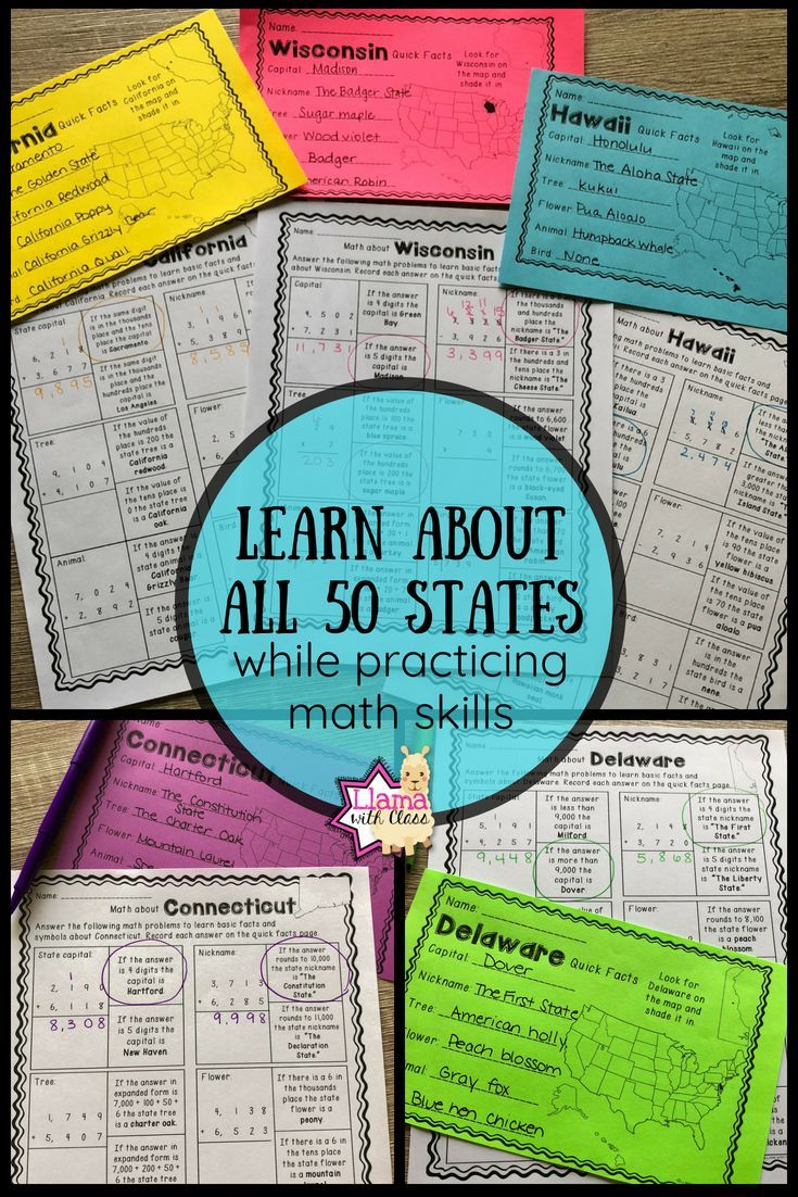 Math about All 50 States Bundle | ***All things Educational and Fun ...
