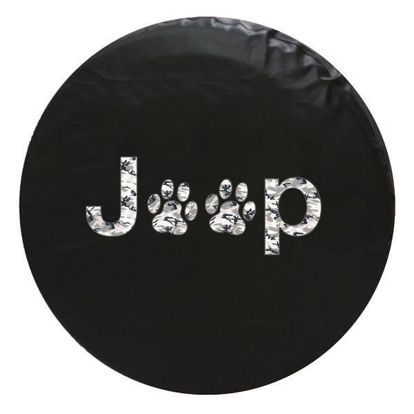 Jeep Army Gray Camo Paw Spare Tire Cover 67 99 Unique
