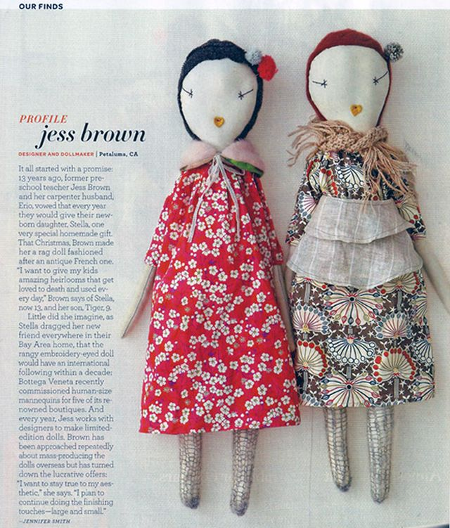 Jess Brown dolls are sweet and unique