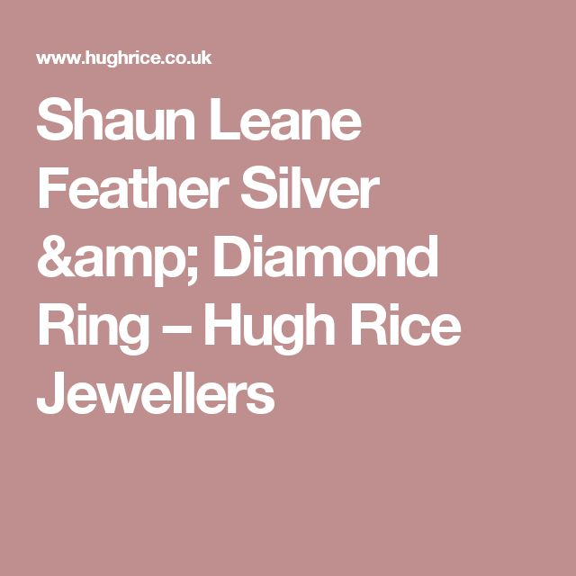 Shaun Leane Feather Silver & Diamond Ring                              – Hugh Rice Jewellers