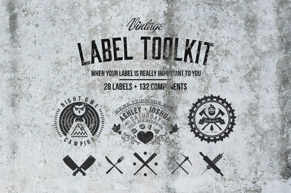Check out Vintage label toolkit by sergio zest on Creative Market