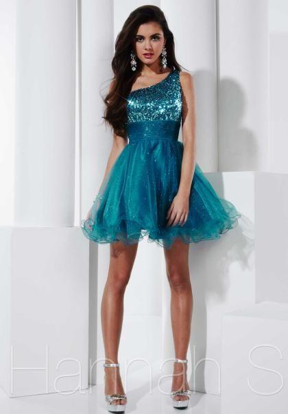 Blue short prom dress by hannah s 27561 cheap