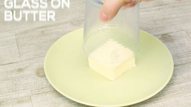 The coolest butter softening trick EVER! #delicious #foodhacks #butter #tips #tricks #follow #dip