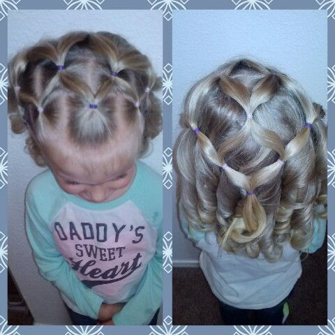 Toddler hairstyle. @untangledhaircreations on Instagram