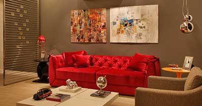 Decoração com Sofá Vermelho para Salas: Fotos e Modelos