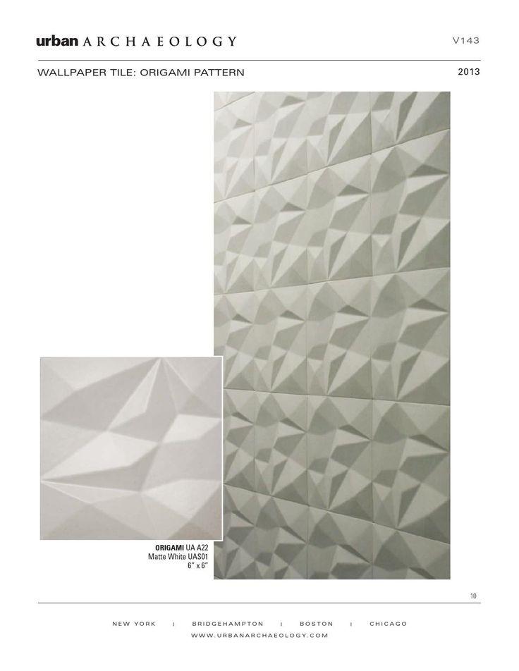 Urban Archaeology: V143 Tile Wallpaper tile: origami pattern