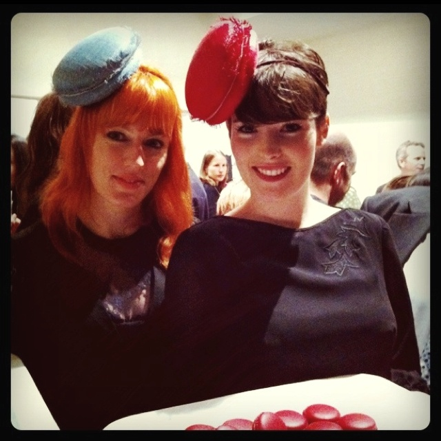 Macaron hats!!! Love it - made by  Louise Macdonald for LaBelleMiette in church street Richmond