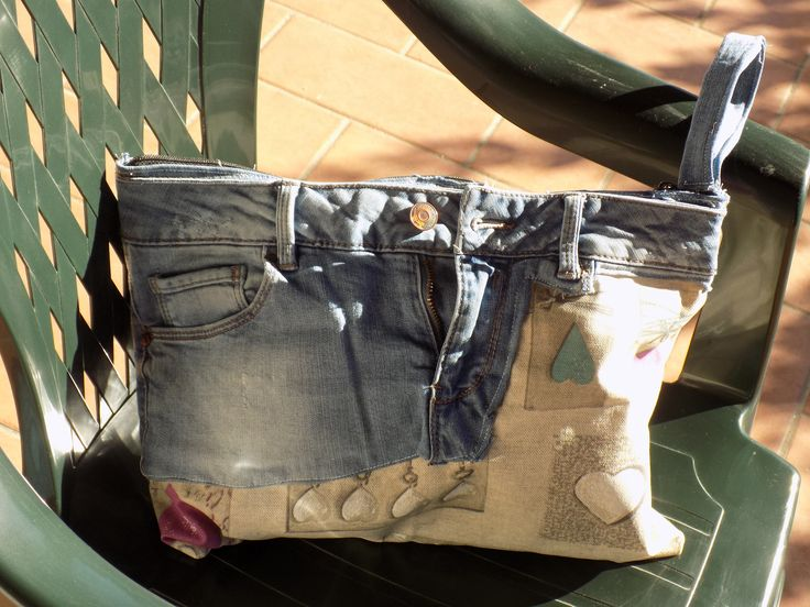 Vintage bag, come riciclare un vecchio jeans.