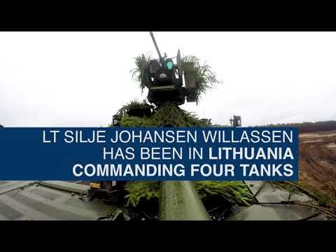 Defense Flash News : Norway's female tank commander deployed in Lithuania, In charge of four tanks, six months away from home Norway's female tank commander deployed in Lithuania, In charge of four tanks, six months away from home Master Version w/Subtitles RUKLA, LITHUANIA 11.30.2017 Courtesy V...