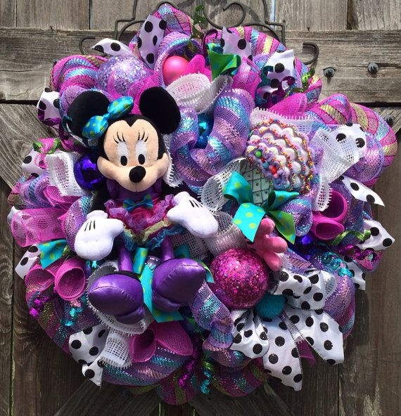 Minnie Mouse Party, Minnie Mouse Decor, Minnie Mouse Wreath, Sweet Minnie on Etsy, $129.00