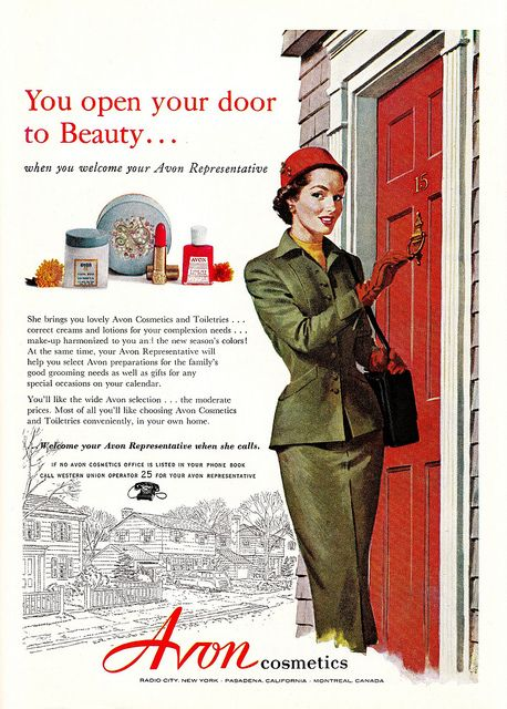 In a nanosecond!!! #Avon #1950s #vintage #ad #makeup #cosmetics