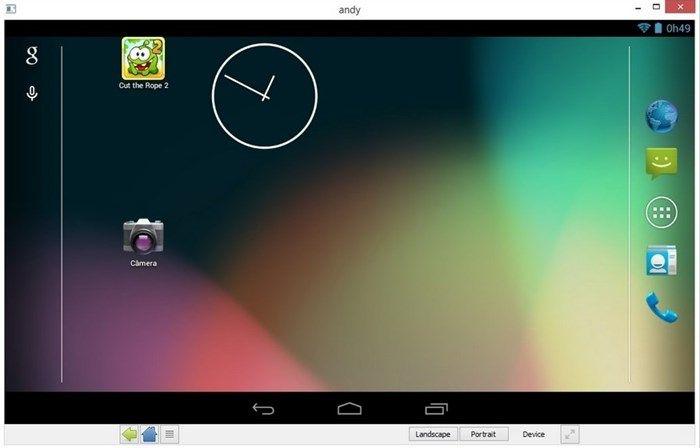 Programas para Emular o Android no computador - downloads:   https://www.tecmundo.com.br/android/85518-5-programas-emular-android-computador.htm