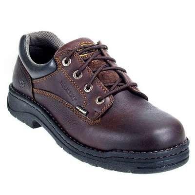Wolverine Shoes: Men's DuraShocks 4373 Brown Exert Steel Toe Oxford Work  Shoes Heading to work