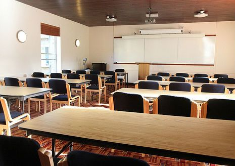 Goodhart Seminar Room - University College Oxford Conferences Possible layouts: Classroom seating up to 34 Theatre-style seating up to 50 Built-in Equipment: Ceiling-mounted projector, TV/DVD player Further information at univ.ox.ac.uk