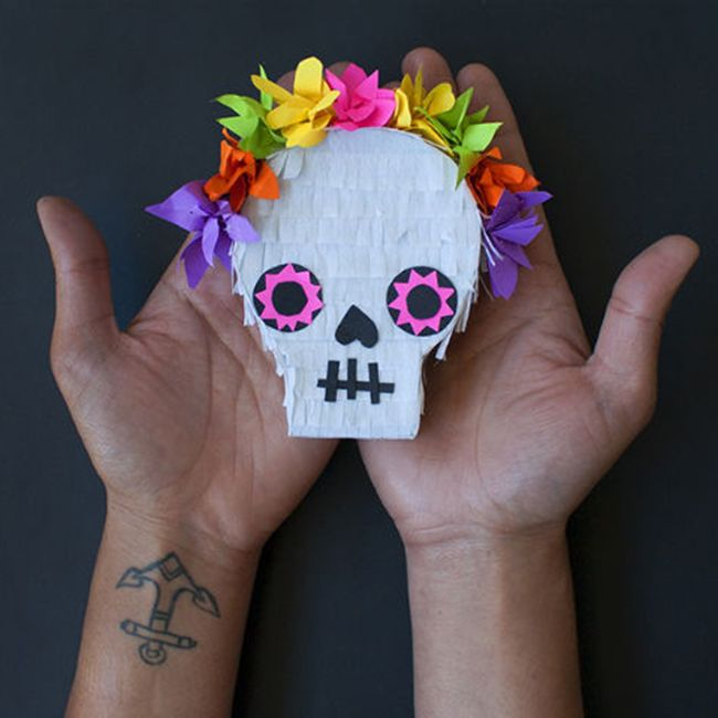 How to make mini sugar skull piñata - The Thousands – Mollie Makes