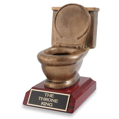 Golden Toilet Trophy, great trophy for the loser of FFL league. #FFL #FantasyFootball