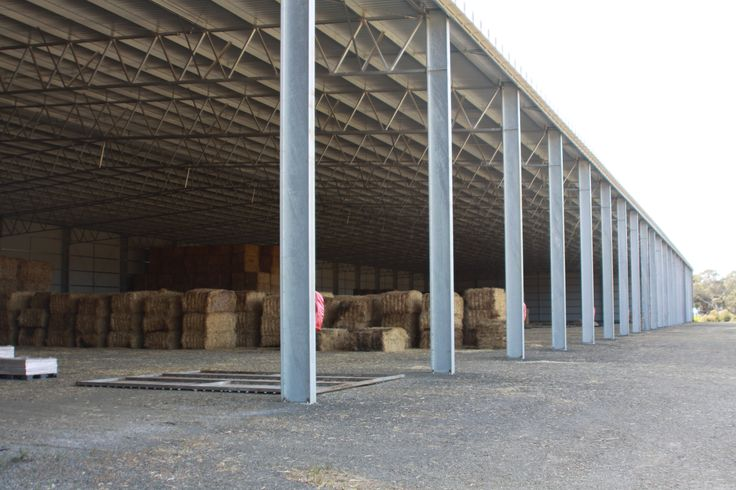 Structural steel buildings for bulk storage of feed, machinery and 3PL freighting