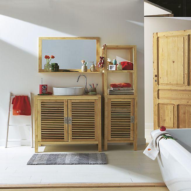 Les 25 meilleures id es concernant salle de bain en bambou - Miroir salle de bain bambou ...