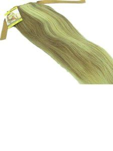 "120G Tanya High Ponytail 24"" Clip-on Human Hair Extensions #8/813 blonde mixed by Tanya. $85.00. High Ponytail Clip Hair Extension. Weight: 120G. 100% Indian Remy Human Hair. Hair Color: #8/613. Length: 24"". ponytail weight : 120g Longth:about 24"" Material: 100% Indian Remy Human Hair High quality 100% human hair   Condition:brand new fashion,tangle free,silky soft"