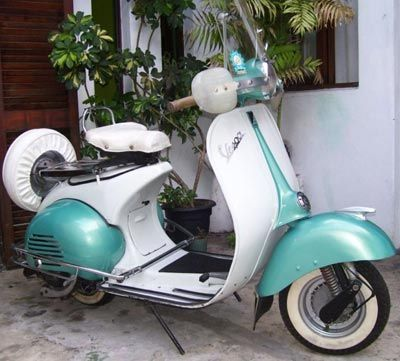 vintage 1957 vespa.  One of the top things on my bucket list... Riding one of these in Italy!! This will happen.