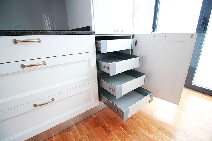 Cajones y gavetas extraibles en los dise os de cocinas en for Cajoneras de cocina