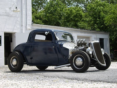 1934 Ford 3 window coupe original steel traditional hot rod