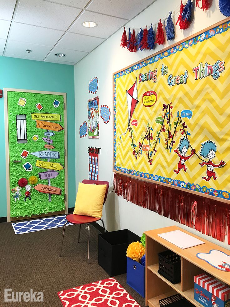 Reading Classroom Decoration Ideas ~ Best images about eureka dr seuss classroom theme on
