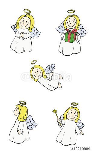 Vektor: Angel, Engel, Christkind, Weihnachten, Heiligabend, Schutzengel