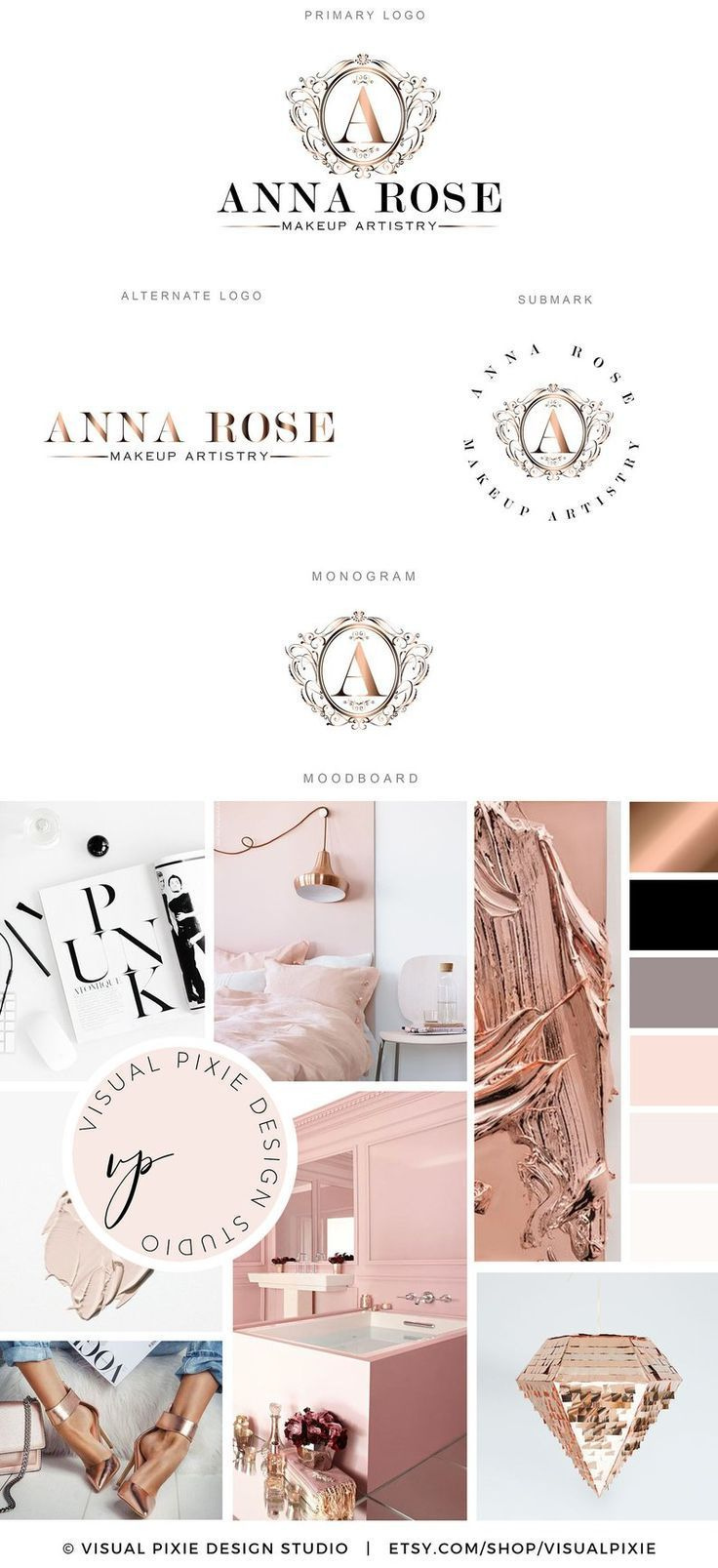 This premade Branding Package Logo Design Kit is a perfect solution to  professionally brand your bus… | Luxury logo design, Branding design  inspiration, Logo design